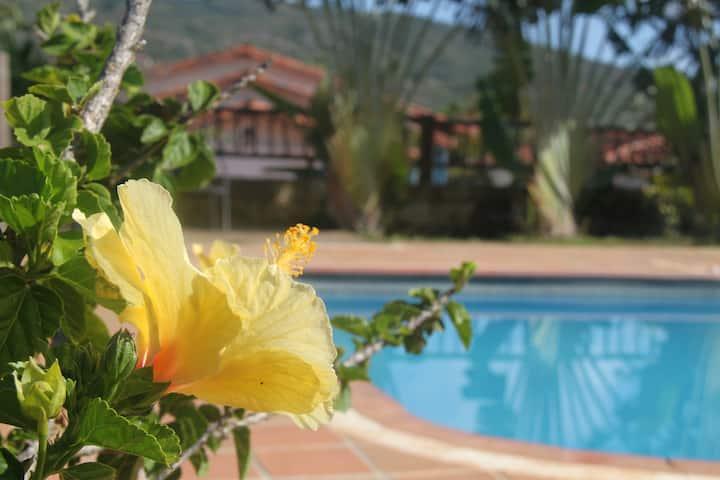 Cabañas campestres con piscina en Barichara