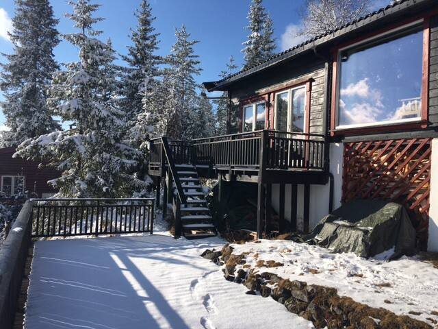 Charming Recreational House, magnificent view - Lunner - Cabin