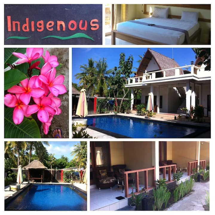 Indigenous Gili T - Queen bed, AC & Hot shower