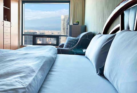 15% off for extended stays! Skyscraper View Apartment! Jinqin Meishui, auditing of Shinchon, Taichung Station, Fengjia Night Market