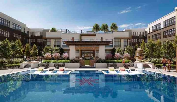 Spacious Studio in luxury complex with pool