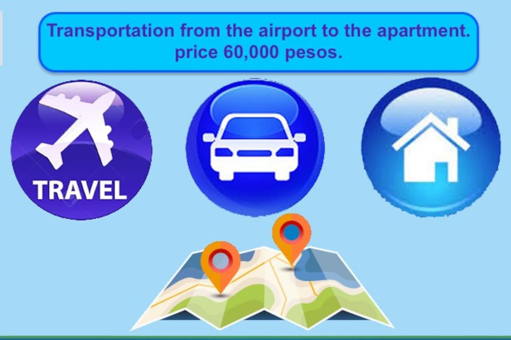 I want to inform you that if you wish for a shuttle service from the airport to the apartment, i have a person who offers the service, the value is 60,000 pesos. Please send me your flight number, arrival time and Airline.