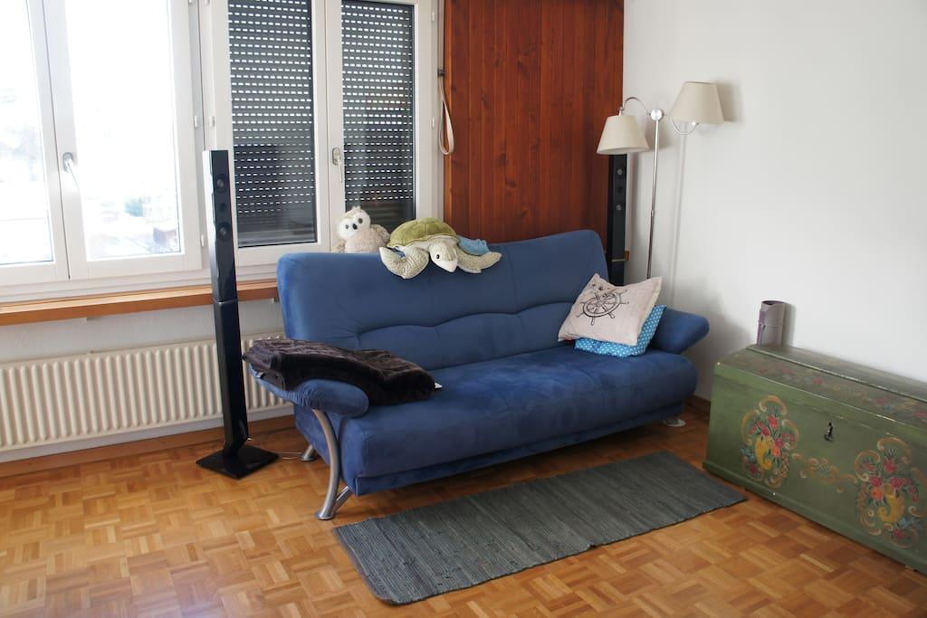 Our cozy sofa.