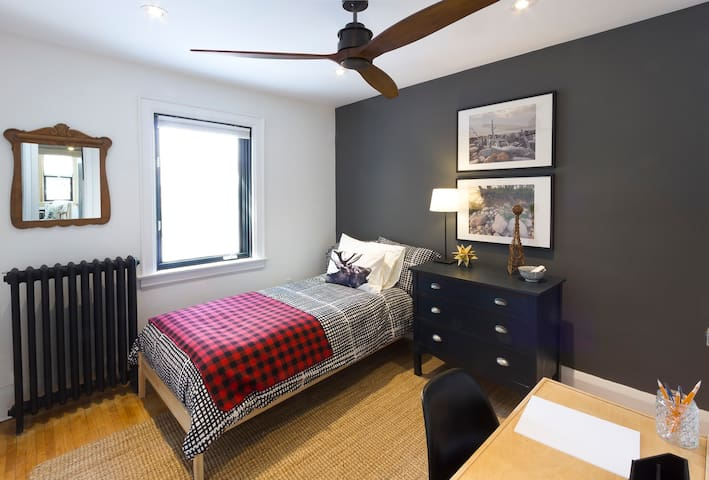 Cozy, bright second floor bedroom