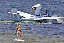 Watch the neighbours seaplane take off while enjoying many of the water activities St Georges Basin is great for