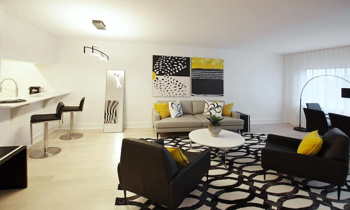Magazine perfect, fully furnished midtown condo