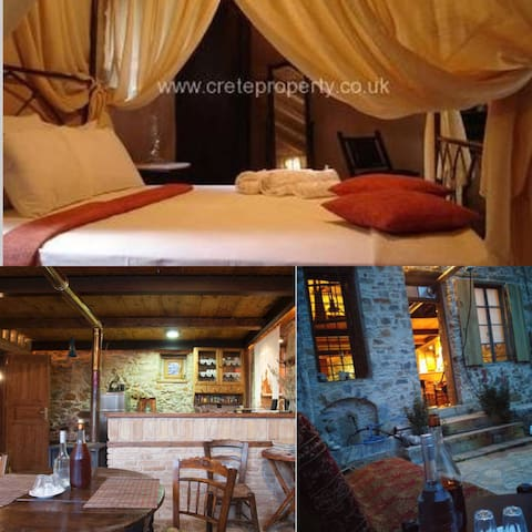 ★1870 Wood Stone Traditional House - Agios Nikolaos - Earth House
