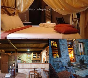 ★1870 Wood Stone Traditional House - Agios Nikolaos - Rumah Bumi