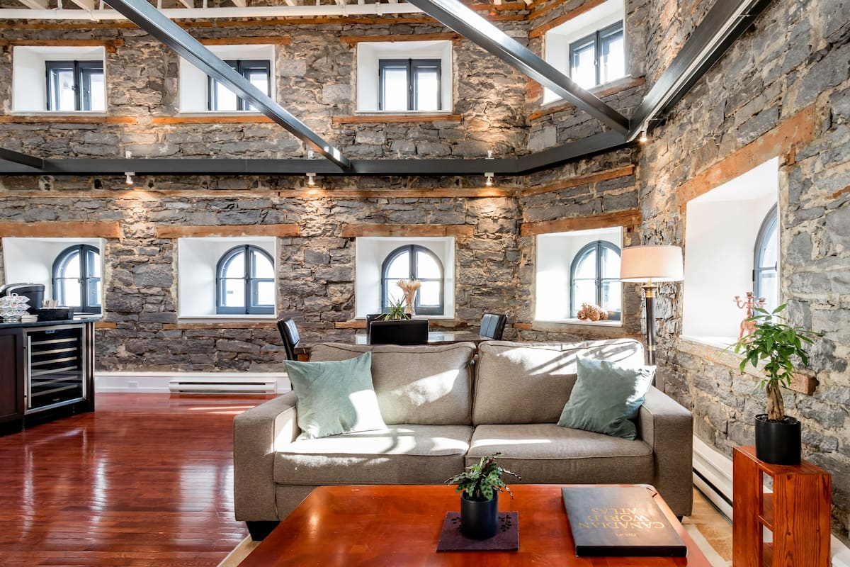 Modernized Rustic Loft in Heritage Building