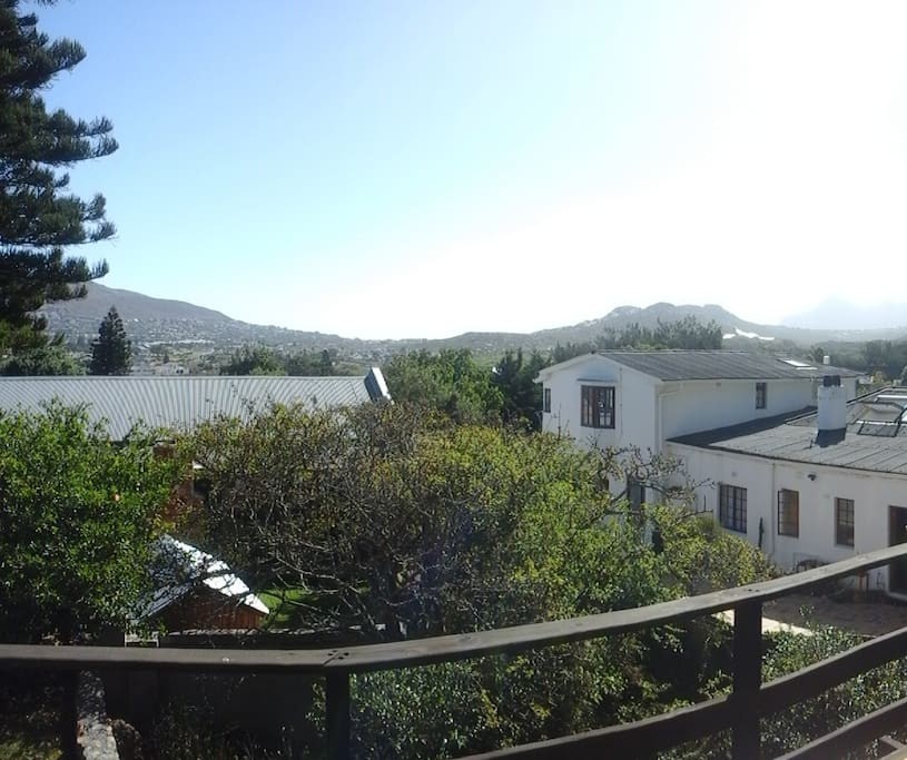 View from Balcony looking up Fish Hoek Valley