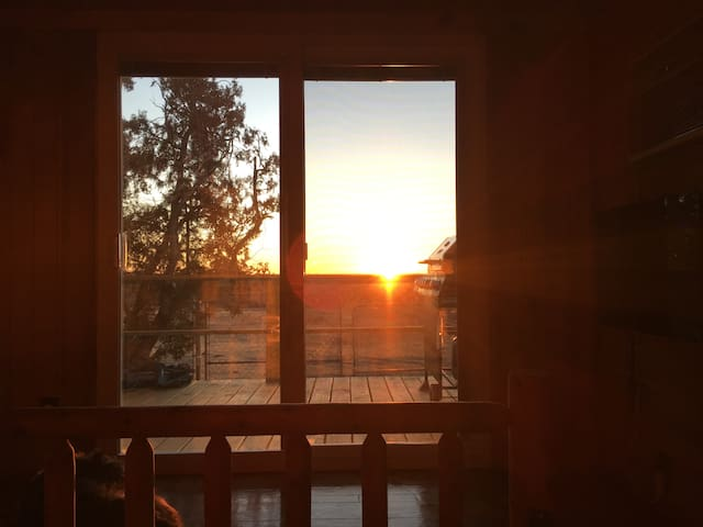 Sunrise from bedroom/deck