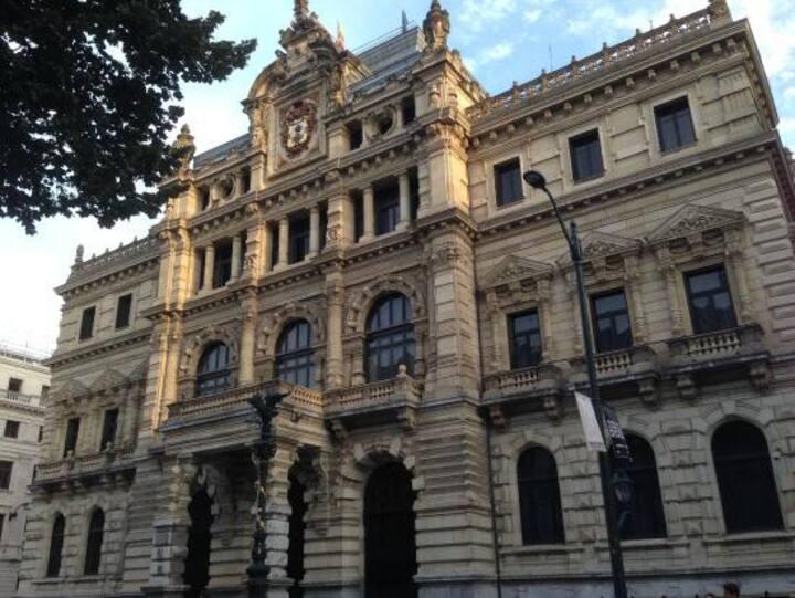 Habitación con baño privado en el centro de Bilbao