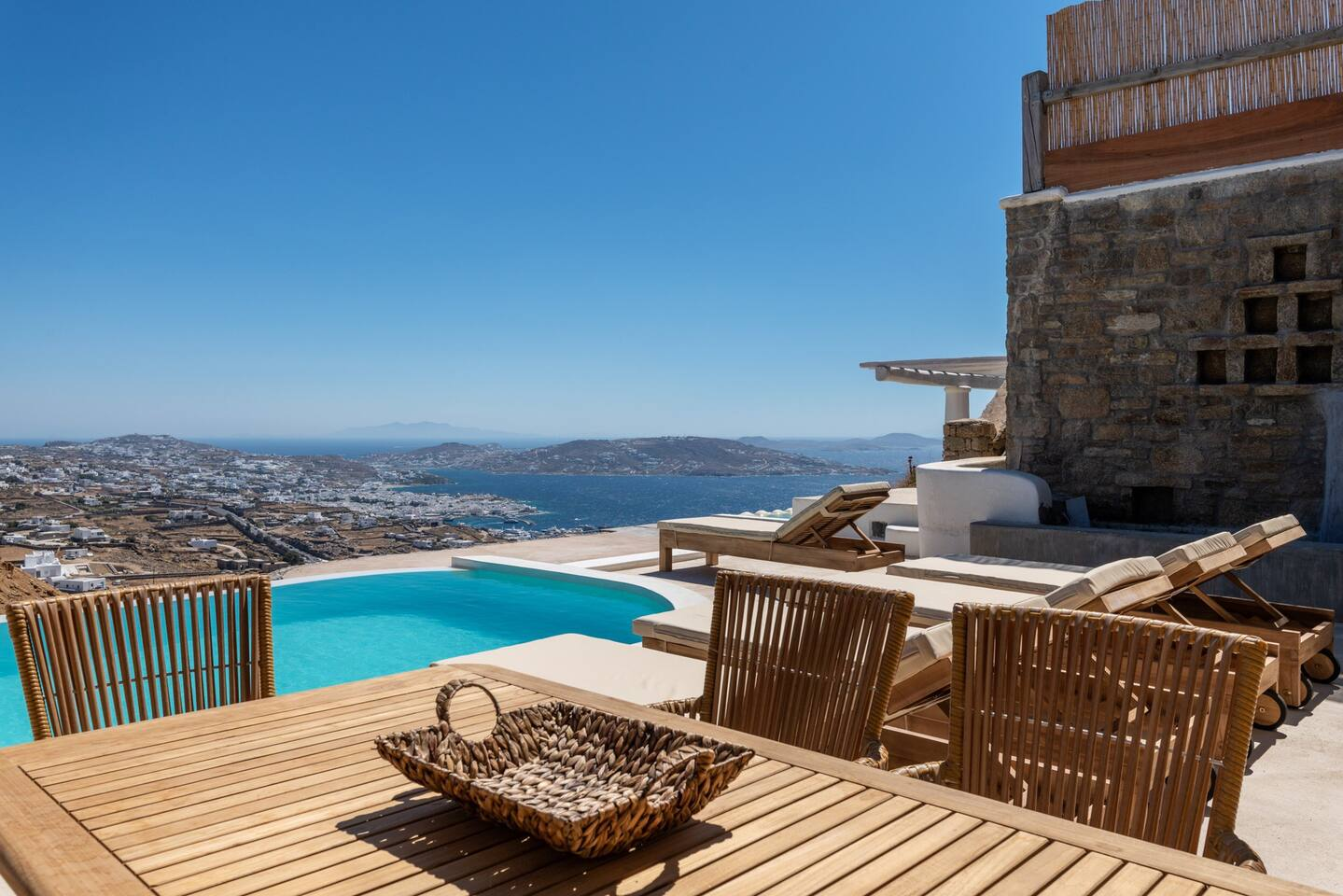 View from private terrace & private pool!