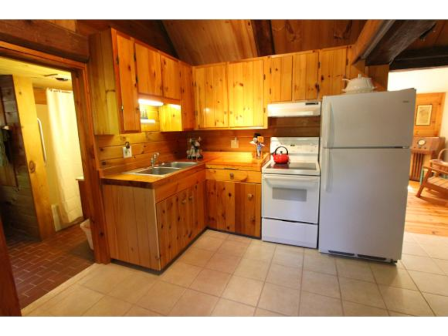 Kitchen to cook all your farmstand goodies.