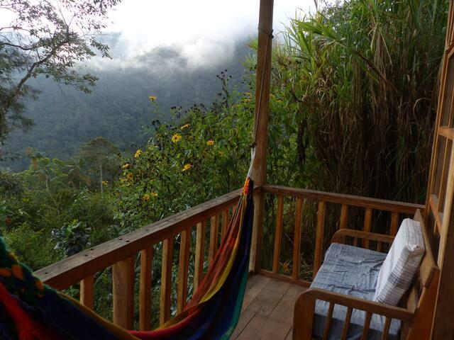 west side cabin balcony