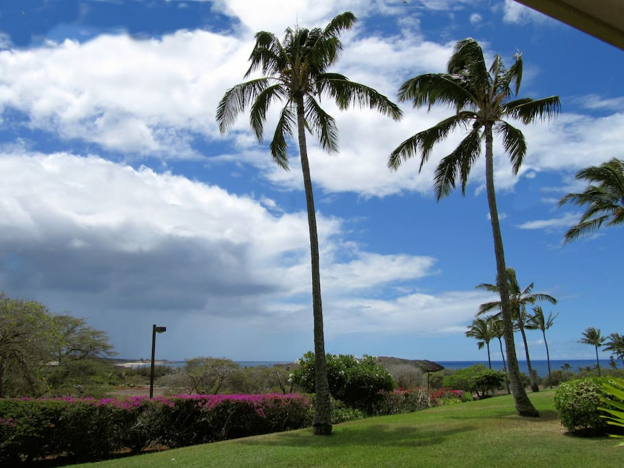 One of the many spectacular views from the unit and lanai