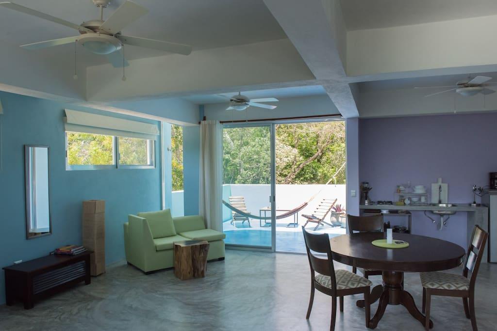 Great kitchenette adjacent to balcony