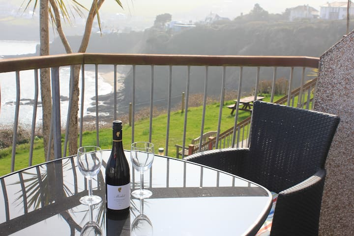 Treloen Holiday Apartment 8 with wow sea views