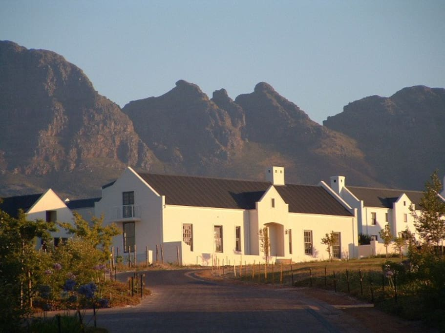The home with the Helderberg mountain in the background