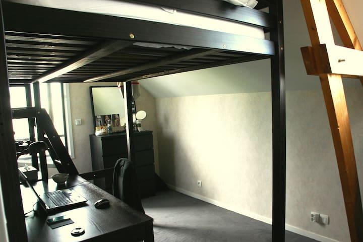 Chambre 2 personnes proche de Rennes - Pacé - Flat