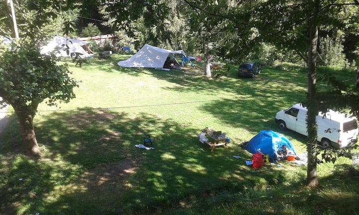De Waard Albatros tent, echt kamperen