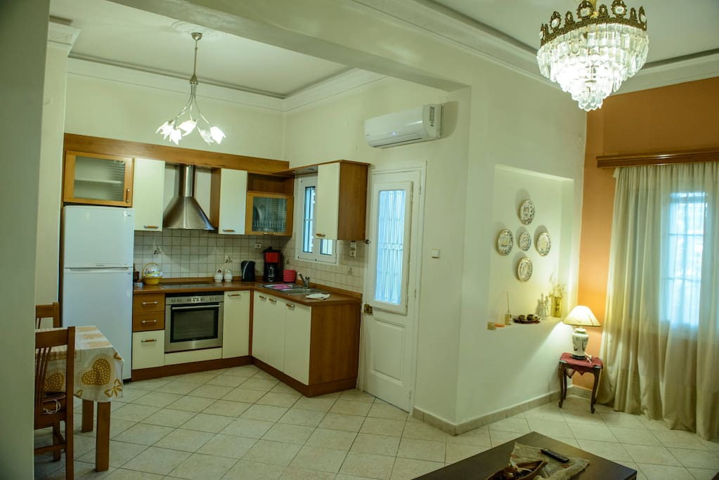 Luxury and large kitchen with dining room