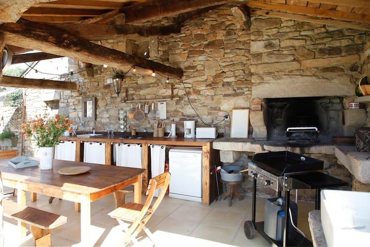 3 maisons en  pierre avec piscine chauffée - Lacapelle-Ségalar