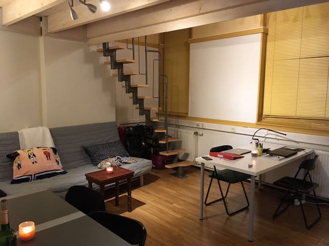 Cozy studio in historical building - Groningen - Apartamento