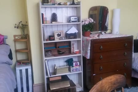 Bright Double room with 2 single beds for 1 or 2 - Poole - House