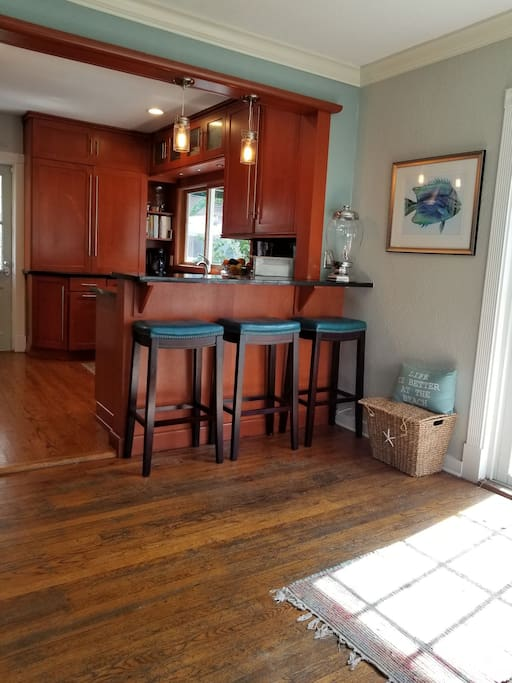 gourmet kitchen with gas 6 burner stove