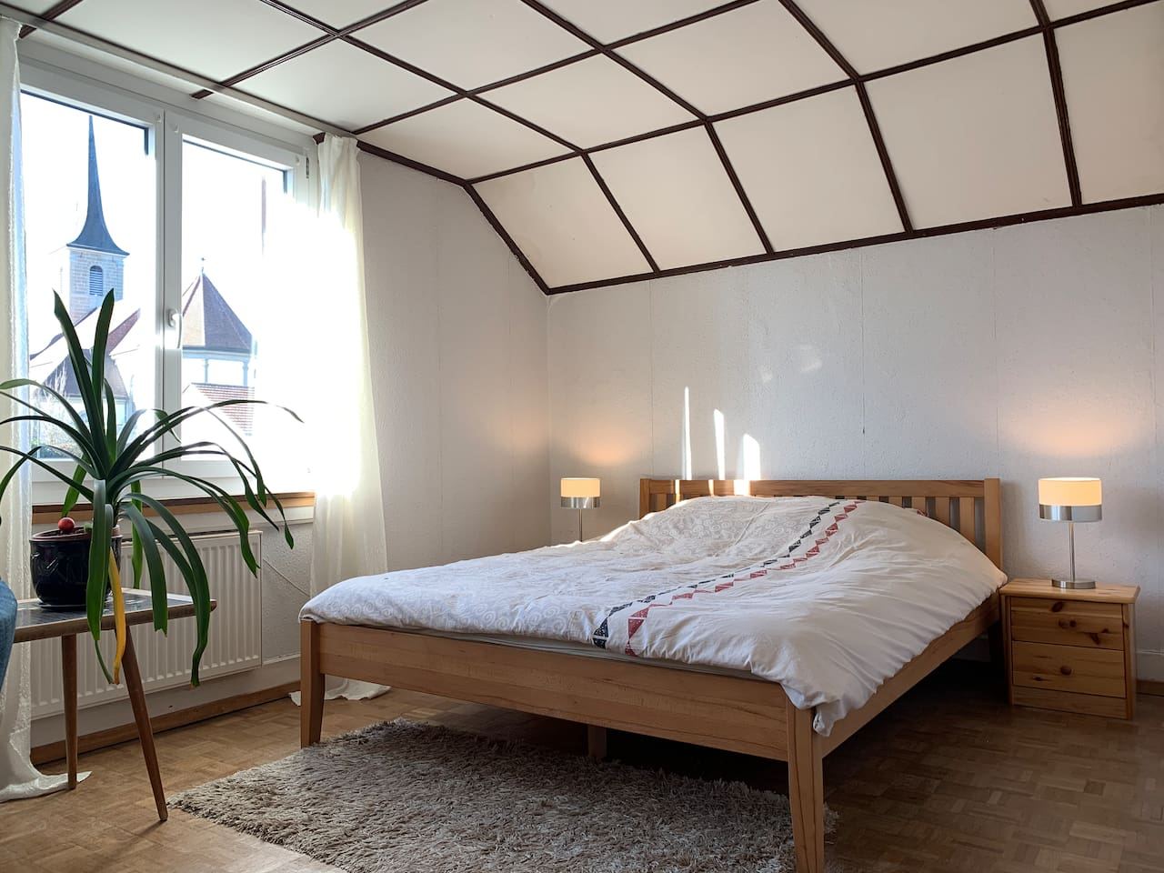 Bedroom one with Queen size (160cm) double bed