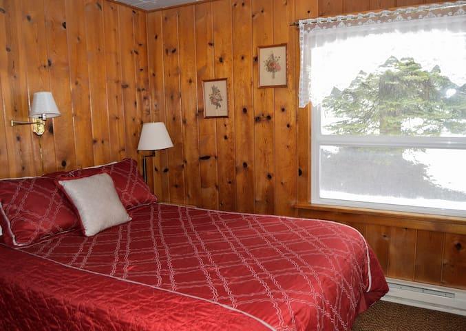 Comfortable queen beds are in both bedrooms.