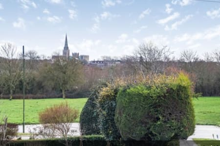 large double room with cathedral views