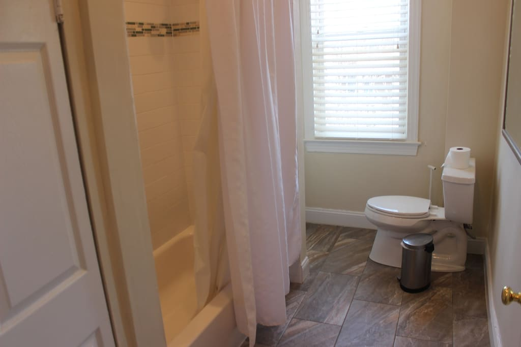 Full Bath with shower, tub, vanity