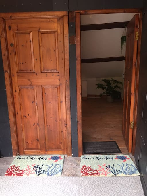 Doorway entrance (both doors, although we only use one)
