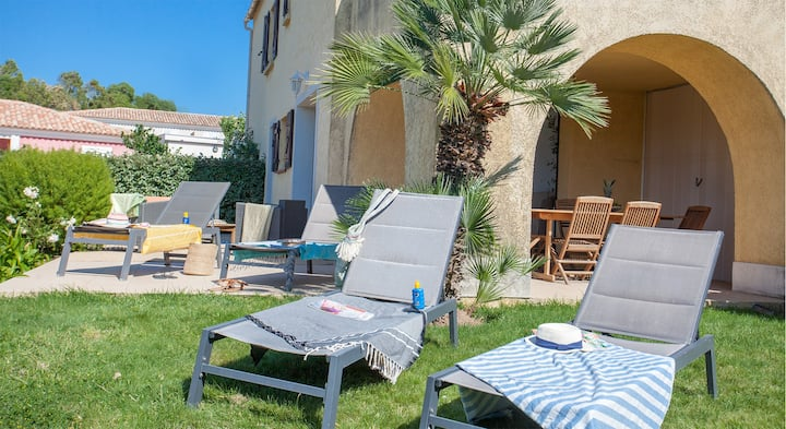 """spacious apartment """"olive"""" twith private garden, deckchair, barbecue, po..."""