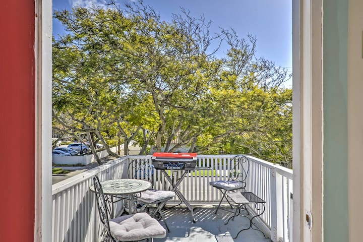 Look forward to taking in the fresh air and beautiful mountain views from this small patio.