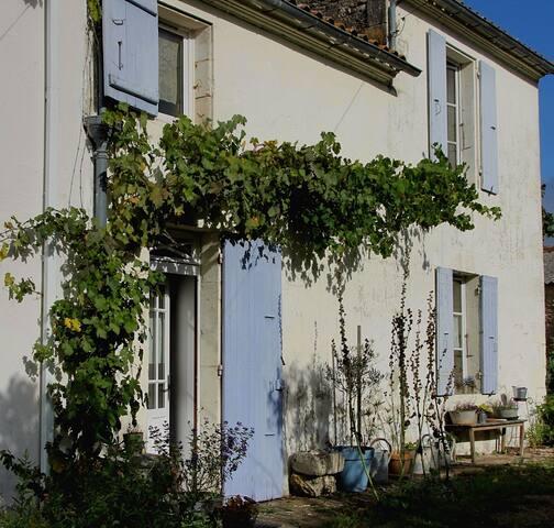 Gîte du figuier - maison côté jardin