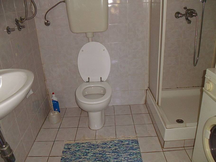 Kupaonica s tuš kabinom, WC