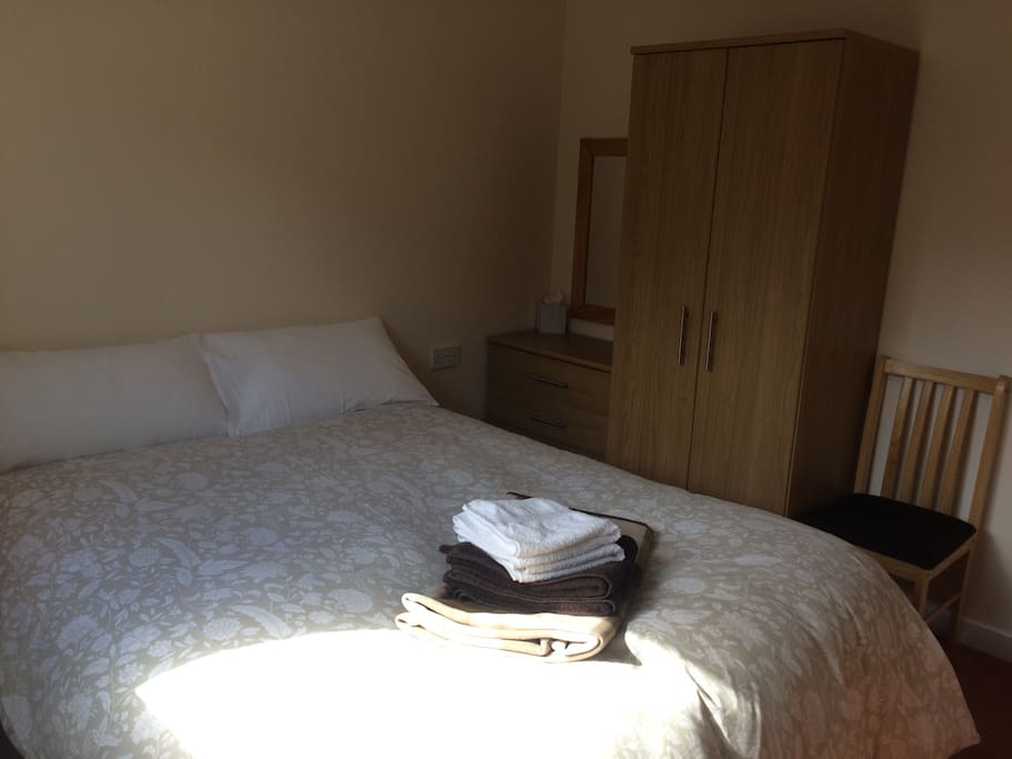 Both bedrooms have standard double beds.