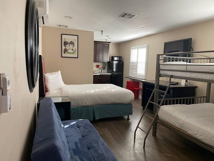 Private suite 202 for a family or friends getaway.