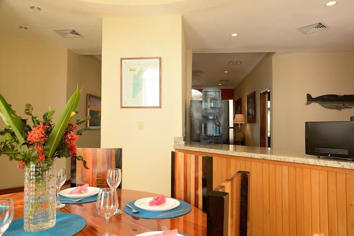 Upper Villa Dining room and Kitchen