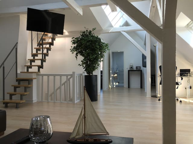 Luxury big Loft -5min from Trade Fair & Old Town !