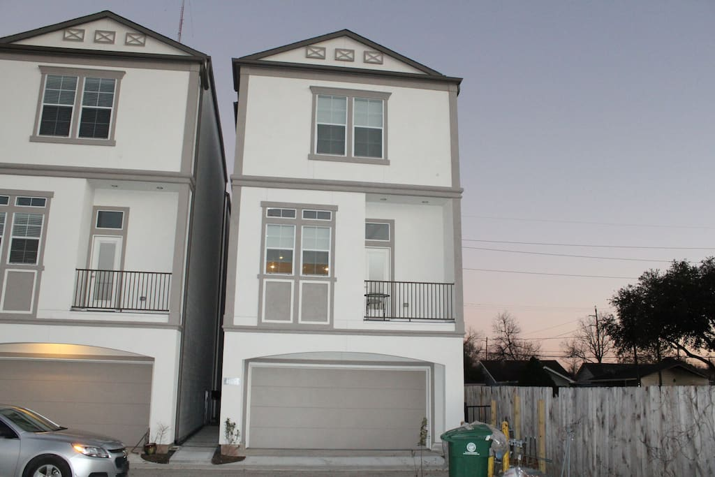 Townhome from the outside
