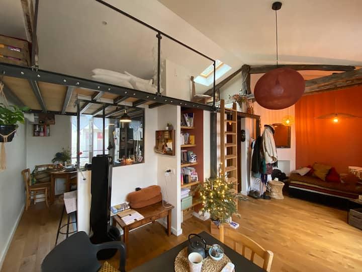 Loft-cabane au coeur de Montmartre