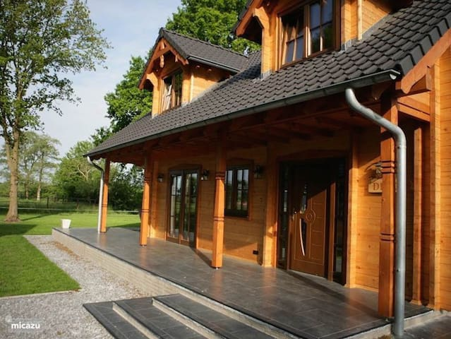 Wooden Villa Dirk with Wi-Fi, Garden, Balcony, Terrace & Sauna; Pets Allowed