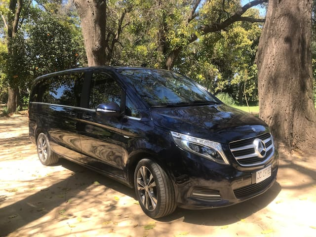 V Class Available for 7 Pax on demand with driver / USD 85 per hr in Santiago - Minimum 2.0 Hrs to book