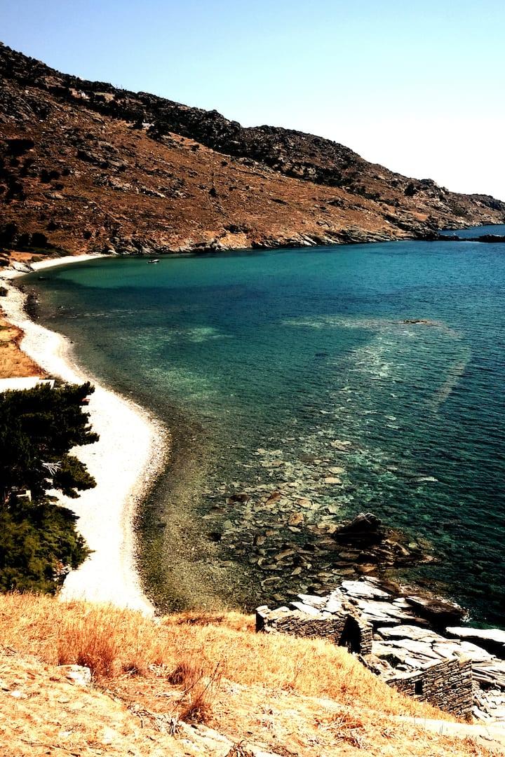 Swim over the ancient sunken harbor