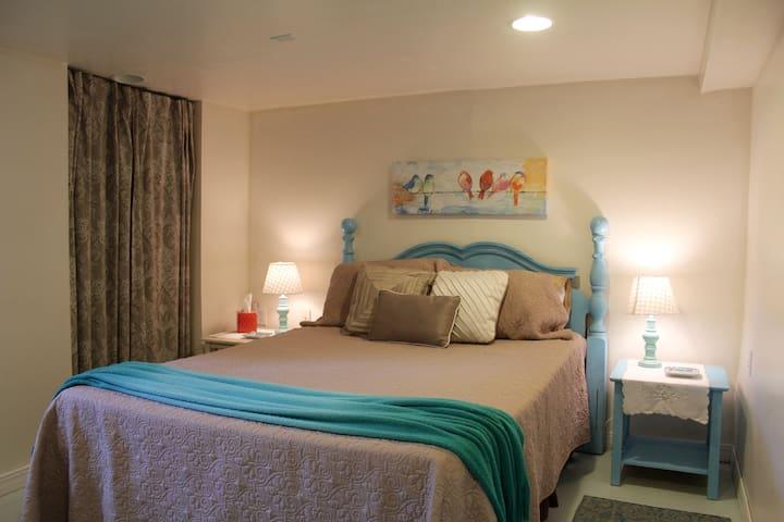 2 bedrooms, basement suite, large windows.