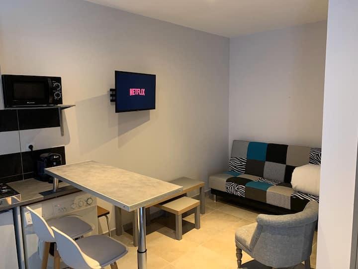 Charmant studio cosy et moderne